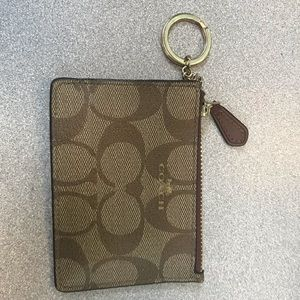 COACH card wallet attaches to keys
